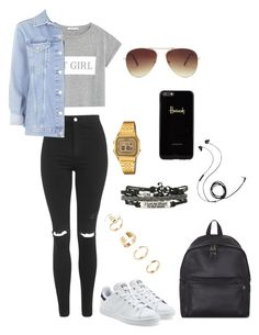 """Polyvore Style"" by jesy-smith on Polyvore featuring mode, MANGO, adidas Originals, Eastpak, Topshop, Harrods, Forever 21, Casio et Molami"