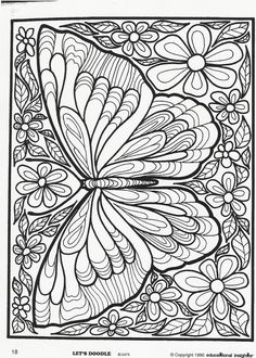 Let's Doodle: Butterfly (posted with permission)