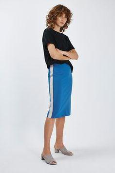 Side Bound Pencil Midi Skirt