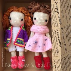 My Crochet Doll No. 14 & 15 @ New New 妞妞 & Rou Rou 柔柔