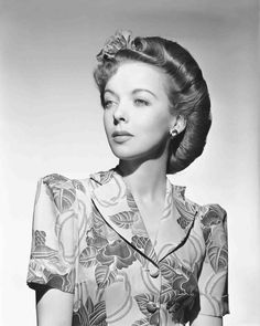 Ida Lupino, 1944 This hairstyle was commonly called a victory roll. It kept women's hair out of machinery as they moved into essential jobs left vacated by men during World War Two. The movie stars helped make these styles popular, so that working women did not feel unattractive or unfashionable.