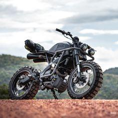 Custom Yamaha scrambler by K-Speed Tracker Motorcycle, Scrambler Motorcycle, Moto Bike, Motorcycle Design, Motorcycle Style, Honda Scrambler, Motorcycle Camping, Retro Motorcycle, Motorcycle Quotes