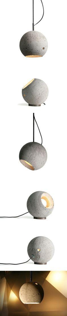 Luminária Globo - Concreto