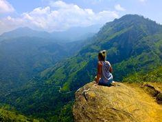 Views from Little Adams Peak in Ella, Sri Lanka