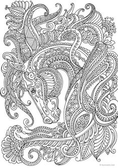 coloring pages - Graceful Horse Printable Adult Coloring Page from Favoreads (Coloring book pages for adults and kids, Coloring sheets, Coloring designs) Horse Coloring Pages, Mandala Coloring Pages, Coloring Sheets, Coloring Books, Colouring, Kids Coloring, Mandala Art, Mandalas Drawing, Zentangles