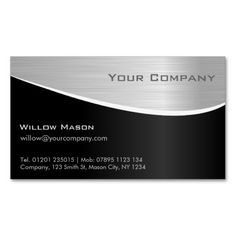 217 best design consultant business cards images on pinterest black steel effect professional business card reheart Gallery