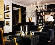 My Black and gold room