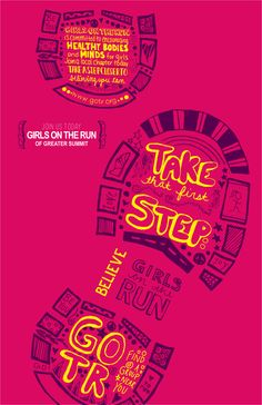 Girls on the Run poster design