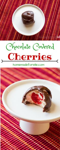 Homemade Chocolate Covered Cherries | homemadeforelle.com