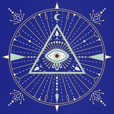 All-Seeing Eye Mandala by Cat Coquillette