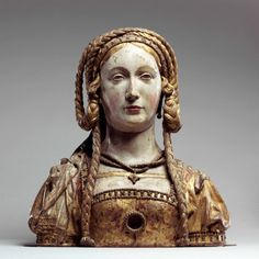 "hismarmorealcalm:  ""Reliquary Bust of Saint Balbina Circa 1520–1530 Painted and gilded oak  """