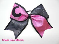 Monogram Cheer Bow by CheerBowMama on Etsy