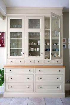 Kitchen Dresser bespoke kitchen dresser with cupboards eastburn country furniture Traditional English Kitchen Bespoke Kitchens Woodstock Furniture