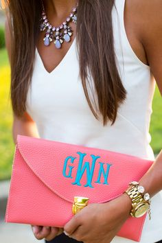 Monogram clutch, cute accessory for this summer outfit Monogram Clutch, Preppy Style, Mode Style, Spring Summer Fashion, Spring 2014, Passion For Fashion, Purses And Bags, What To Wear, Cute Outfits