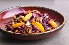 Red cabbage, orange and walnut salad recipe - goodtoknow