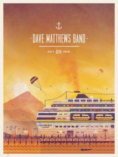 DMB Poster 7-20-2012 - Cruzan Amphitheater - West Palm Beach, FL