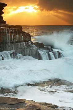 The surf at sunset. Maroubra Beach, Sydney, Australia. Website: http://patelcruises.com/  Email: patelcruises.com@gmail.com