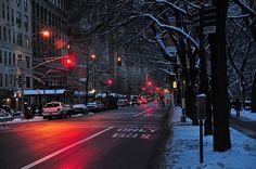 Photography Aesthetics City Dark Lights Snow Winter