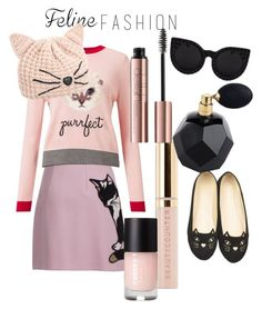"""""""cat with style"""" by pentecostal-apostolicfashion2016 on Polyvore featuring MSGM, Miss Selfridge, WithChic, Karl Lagerfeld and Beautycounter"""