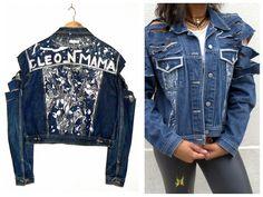 Denim painted, diy,  original denim, original jeans, customisation, Cleo n Mama, graphic, pattern, tribal, Handmade, denim diy, silver, blue,