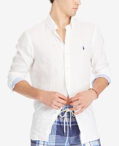 1aedea4e5 Polo Ralph Lauren Men s Classic-Fit Linen Shirt