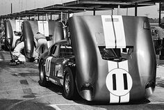 Daytona 2000 Km, 1965: Three of the original six Shelby Daytona Cobra Coupes. The Henry Ford/Friedman photo.
