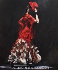Flamenco oil painting (52)