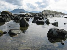 The beach at my cousin's cottage, a few islands south of Bergen, Norway, my favourite place in the world.  Benta @ SLIKstitches