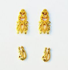 4 pcs Gold Nail Charm,Gold Nail Decal,Nail Design,Nail Art,Nail Decoration,3d Nail Art,Wedding Nails,Alloy nail Charm,Nail Accessory,Nails
