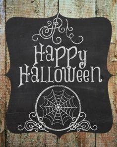 Happy Halloween Chalkboard Printable