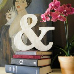 Ampersand Wedding White Photo Prop Wood Sign Shabby Chic. $31.00, via Etsy.