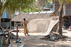 Village de pêcheur Cham sur la route de Kep à Kampot