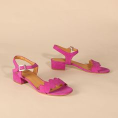 POPPY Suede Fuchsia | Emma Go My Emma, Long Toes, Your Shoes, Low Heels, Poppy, Open Toe, Spring Summer, Leather, How To Wear