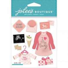 Jolee's Boutique Dimensional Stickers - Girl Pregnancy