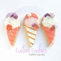 ice cream cone cookies // Tammy Holmes