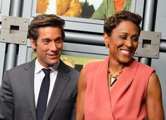 David Muir Photos Photos - ABC News anchor David Muir and ABC 'Good Morning America' anchor Robin Roberts attend the dedication ceremony as ABC News headquarters in New York is proclaimed 'The Barbara Walters Building' ABC News Headquarters Dedication Ceremony on May 12, 2014 in New York City. - ABC News Headquarters Dedication Ceremony