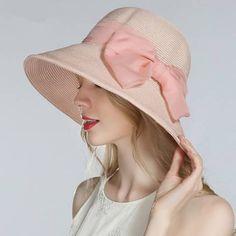 Organza bow starw sun hat for beach vacation ladies summer hats. Jaime  Quispe · Gorras 283a92eff09