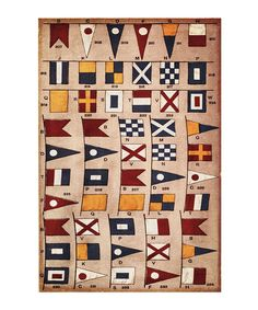 Love this 'Nautical Flags' Print by Oliver Gal on #zulily! #zulilyfinds
