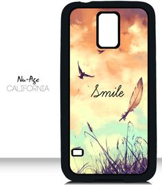 Samsung Galaxy S5 Phone Case SMILE Saying Birds by NuAgeProducts, ONLY $13.23!