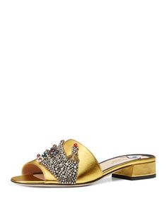 S1DST Gucci Wangy Jeweled Mule Slide