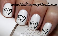 50pc Love Horse Heart Horses Nail Decals Nail Art Nail Stickers Best Price NC804