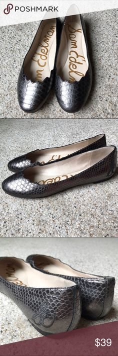 NWOT: Sam Edelman Alaine Metallic Snakeskin Flats New without tag Sam Edelman Shoes Flats & Loafers