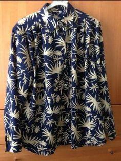 Blouse van Sensia  Lange mouw / blauw, wit /  MT: 44 Prijs: € 3,50