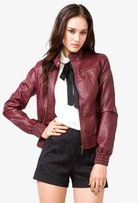 Faux Leather jacket $27.00 @Forever21