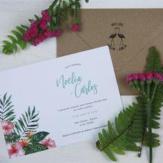 Invitación de boda TAMARINDO Tamarindo, Summer Of Love, Unique Invitations, Wedding Stationery, Doodle Flowers, Spring, Weddings, Tamarind