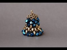 Sidonia's handmade jewelry - Christmas decorations - Beaded bell - YouTube