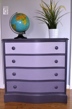 Purple Ombre Dresser - another possibility for Ana.