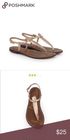 d027a6f129e8 Sam Edelman Gigi sandal rose gold boa sandal Sam Edelman Sam Edelman Shoes  Sandals