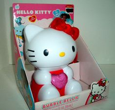 Mouse over image to zoom  Have one to sell? Sell it yourself Hello Kitty Bubble Bellie Machine w/ liquid bubbles Stocking stuffer NEW IN BOX!