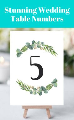Finish off your wedding table with these stunning Rich Eucalyptus table numbers. They are perfect for any greenery or outdoor wedding and are certainto be a conversation starter. Choose between two sizes and print the table number cards one-sided or double-sided. A detailed instruction guide is included as well, so that customizing the templates will be an easy and fun DIY project. Browse more gorgeous table number templates at www.papersizzle.com.